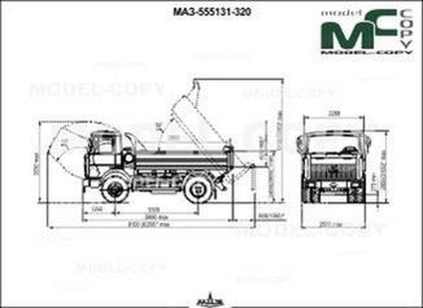 MAZ-555131-320 - 2D drawing (blueprints)