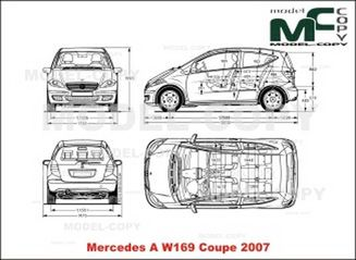 Mercedes-Benz A-Class W169 Coupe (2007) - drawing