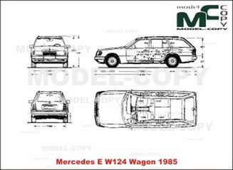 Mercedes-Benz E-Class W124 Wagon (1985) - drawing
