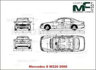 mercedes-benz s-class w220  2000  - drawing