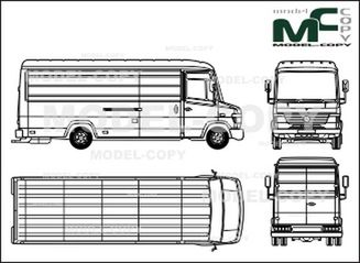 Mercedes-Benz Vario box, high roof, very long - drawing