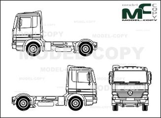 Mercedes-Benz Actros L, 2-axle trucks, tractor - 2D drawing (blueprints)