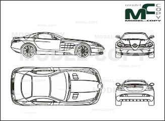 Mercedes-Benz SLR McLaren (2004) - drawing