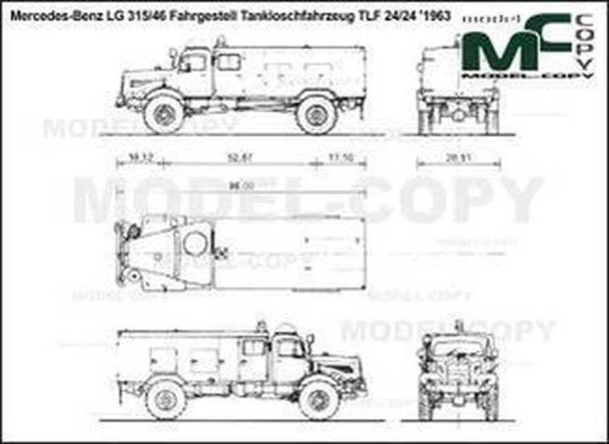 Mercedes-Benz LG 315/46 Fahrgestell Tankloschfahrzeug TLF 24/24 '1963 - 2D drawing (blueprints)