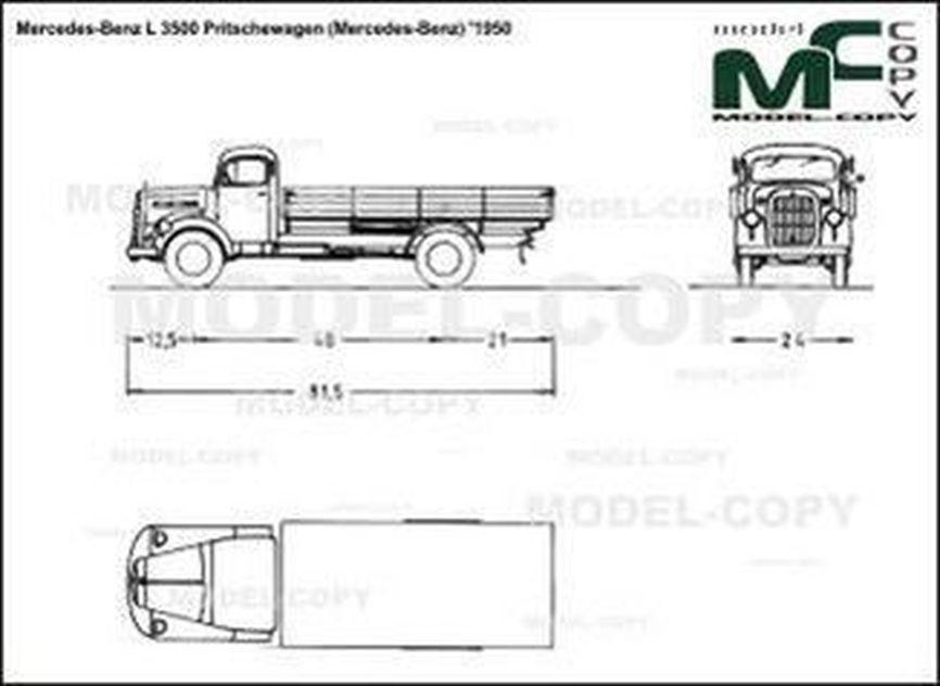 Mercedes-Benz L 3500 Pritschewagen (Mercedes-Benz) '1950 - 2D drawing (blueprints)