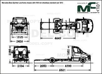Mercedes-Benz Sprinter Low-frame chassis with 4100 mm wheelbase standard cab '2013 - drawing