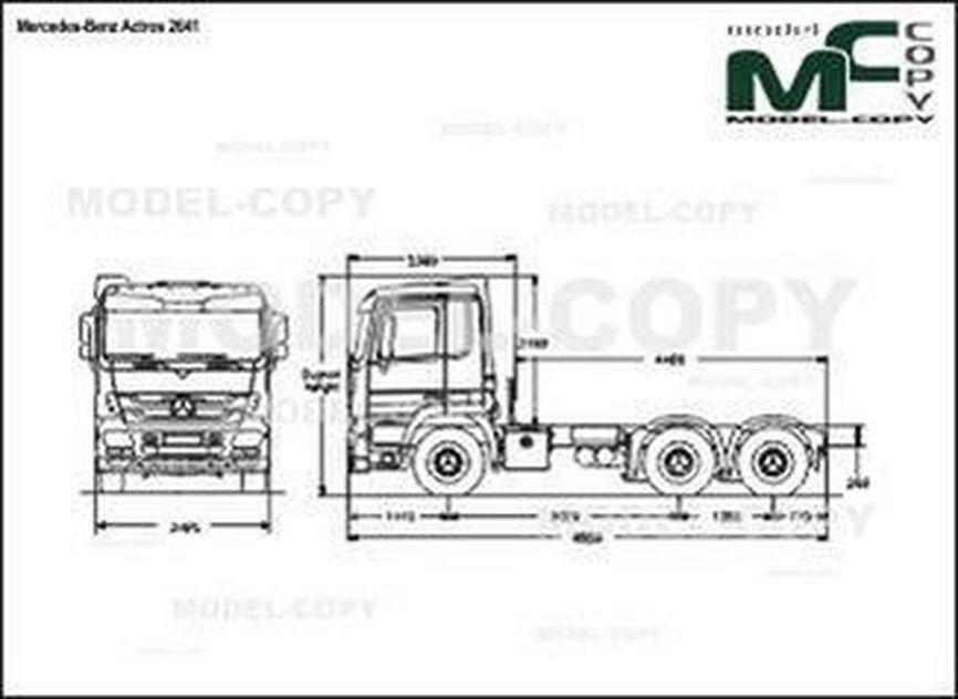Mercedes-Benz Actros 2641 - 2D drawing (blueprints)