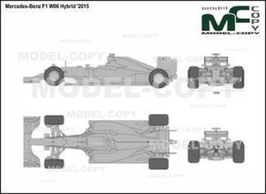 Mercedes-Benz F1 W06 Hybrid '2015 - 2D drawing (blueprints)