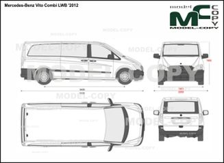 Mercedes-Benz Vito Combi LWB '2012 - 2D drawing (blueprints)