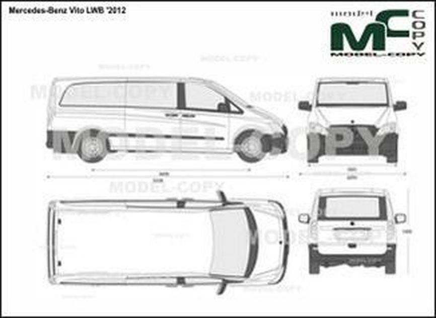 Mercedes-Benz Vito LWB '2012 - 2D drawing (blueprints)