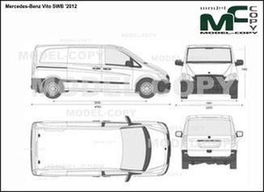 Mercedes-Benz Vito SWB '2012 - 2D drawing (blueprints)