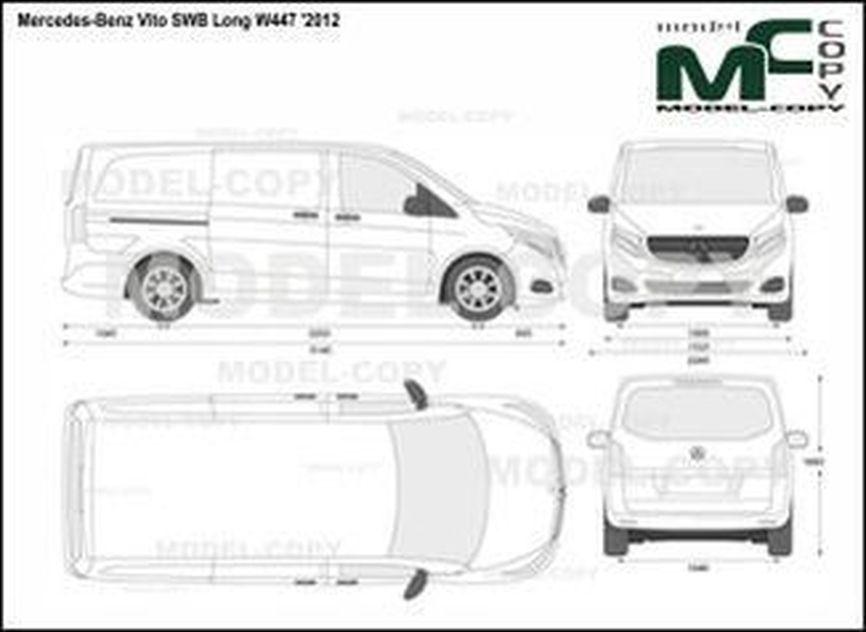 Mercedes-Benz Vito SWB Long W447 '2012 - 2D drawing (blueprints)