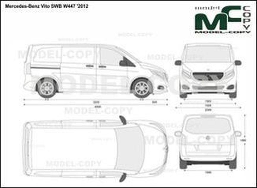 Mercedes-Benz Vito SWB W447 '2012 - 2D drawing (blueprints)