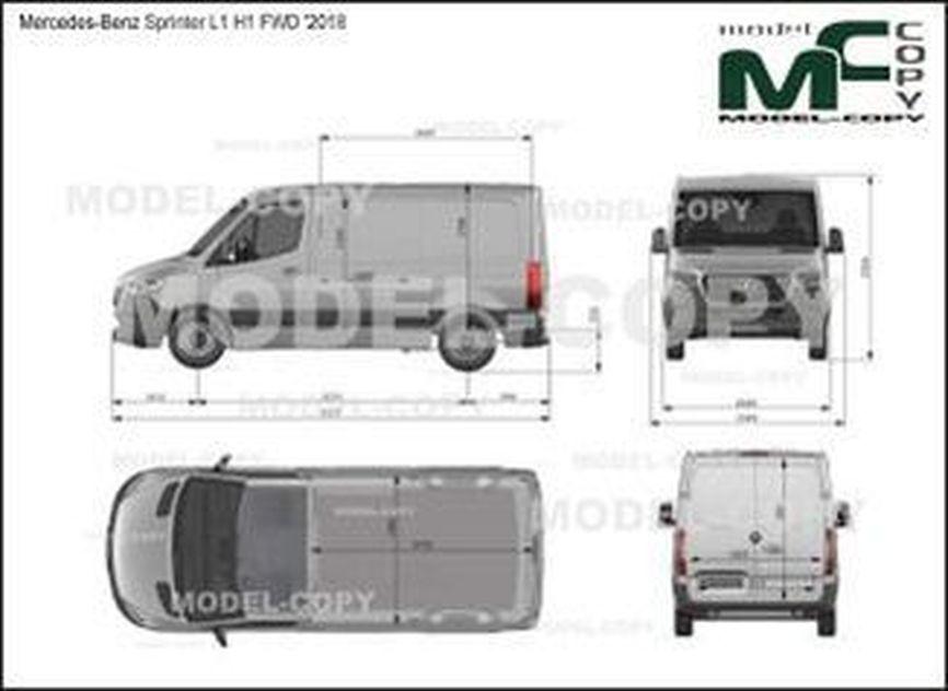 Mercedes-Benz Sprinter van L1 H1 FWD '2018 - drawing