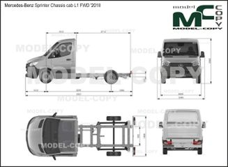 Mercedes-Benz Sprinter Chassis cab L1 FWD '2018 - drawing