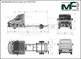 Mercedes-Benz Sprinter Chassis cab L2 FWD '2018 - drawing