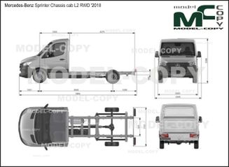 Mercedes-Benz Sprinter Chassis cab L2 RWD '2018 - drawing