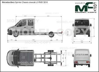 Mercedes-Benz Sprinter Chassis crewcab L3 RWD '2018 - drawing
