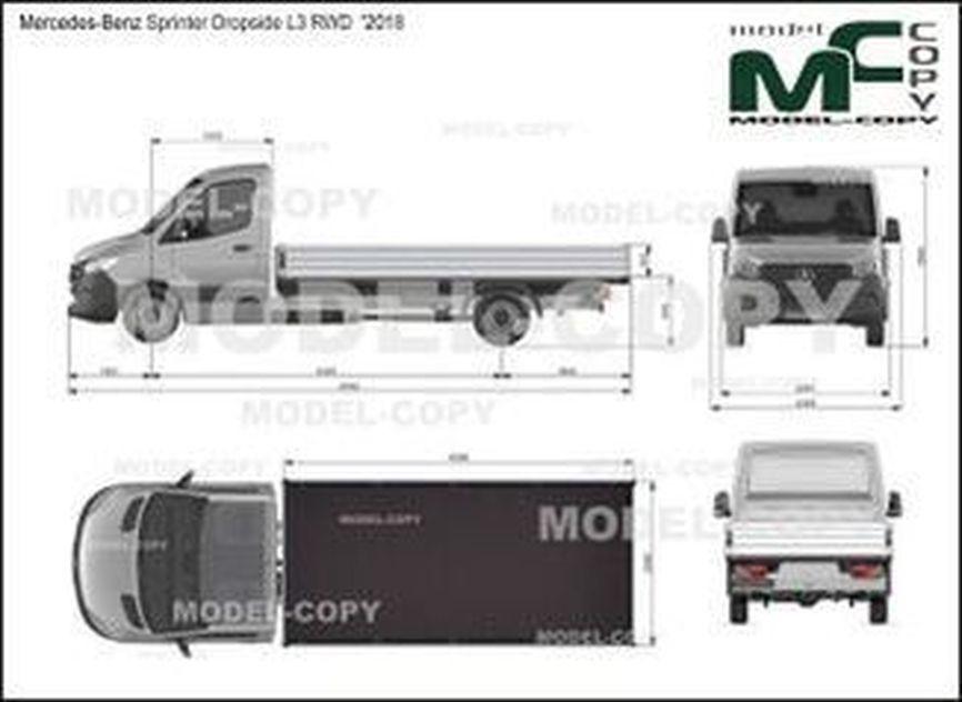 Mercedes-Benz Sprinter Dropside L3 RWD  '2018 - drawing
