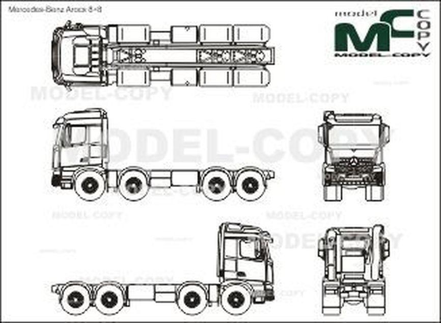Mercedes-Benz Arocs 8×8 - drawing