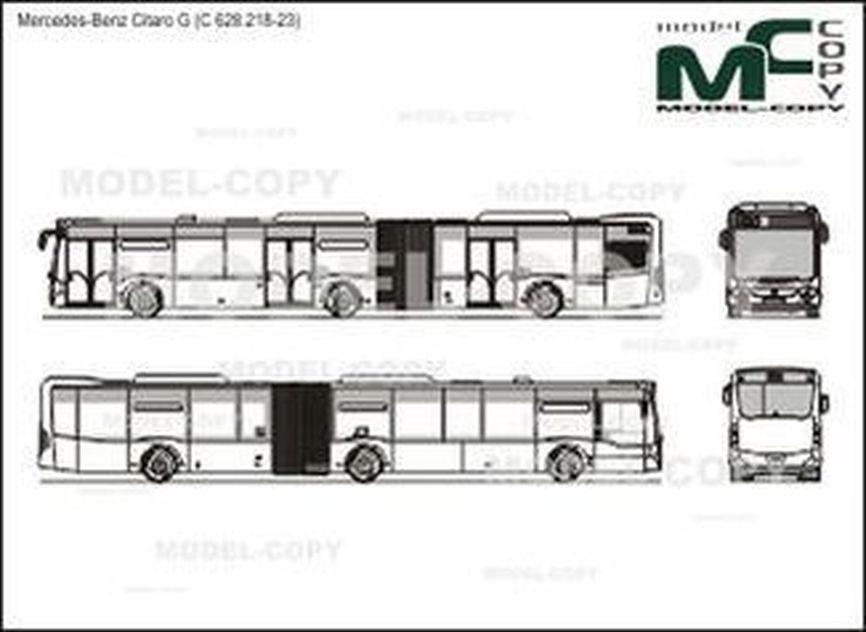 Mercedes-Benz Citaro G (C 628.218-23) - 2D drawing (blueprints)