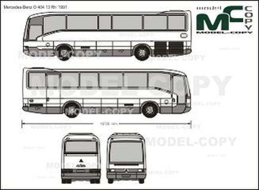 Mercedes-Benz O 404 13 Rh '1991 - 2D drawing (blueprints)