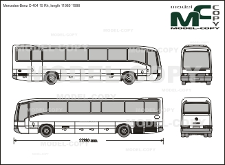 Mercedes-Benz O 404 15 Rh, length 11980 '1998 - 2D drawing (blueprints)