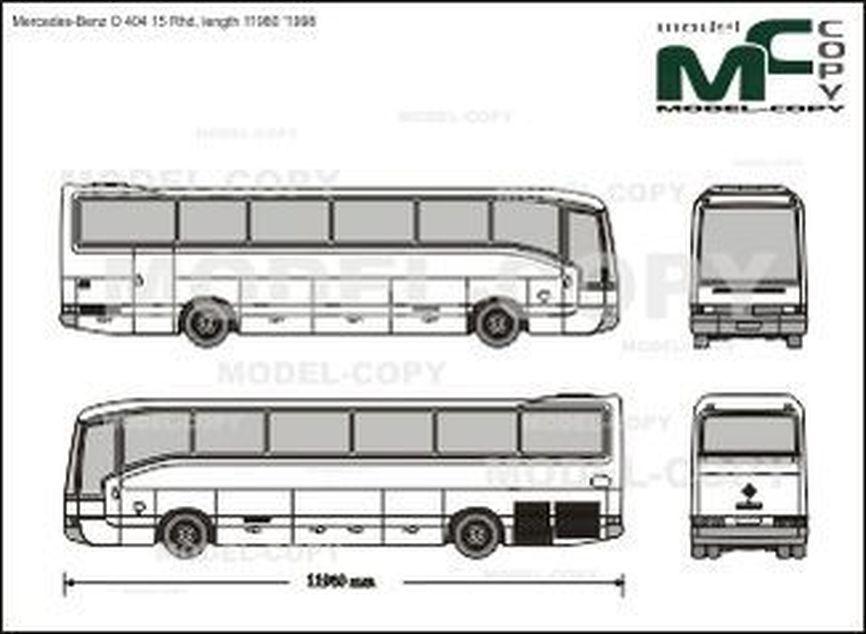 Mercedes-Benz O 404 15 Rhd, length 11980 '1998 - Rysunek 2D