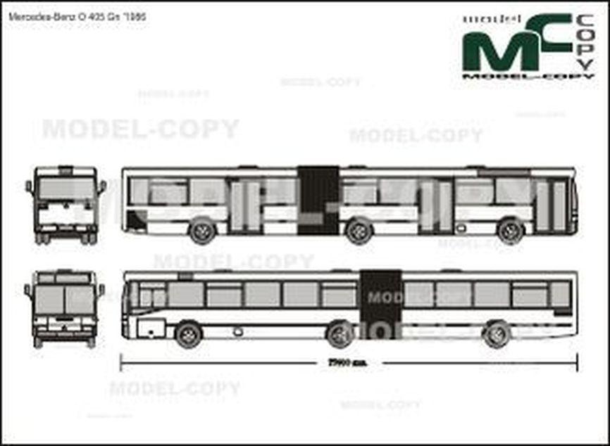 Mercedes-Benz O 405 Gn '1986 - Rysunek 2D