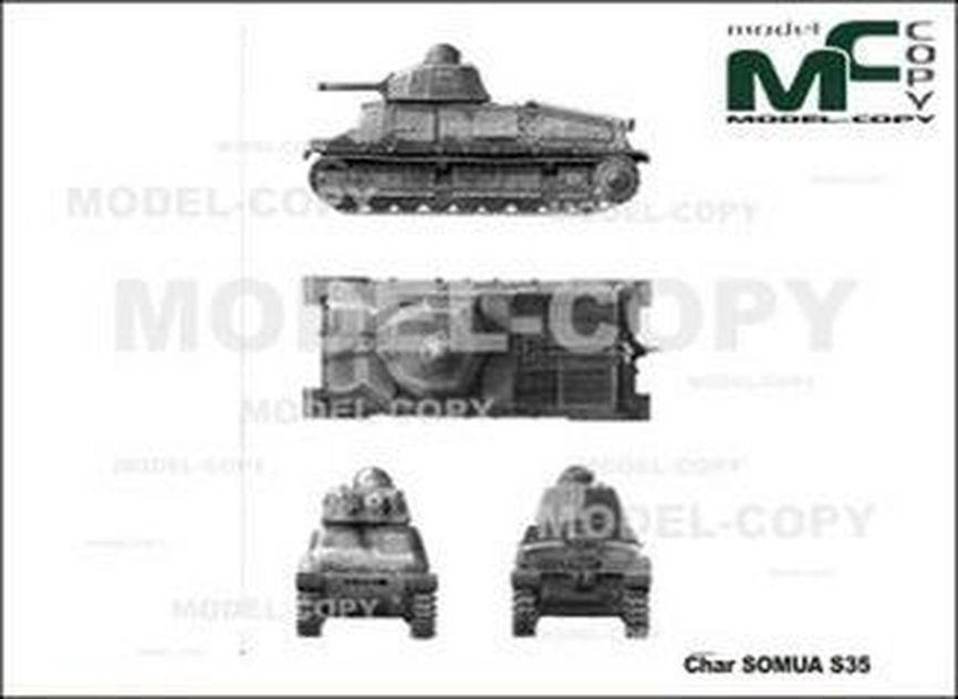 Char SOMUA S35 - 2D tekening