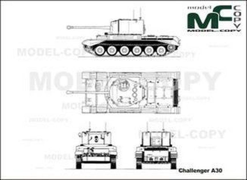 Challenger A30 - 2D tekening