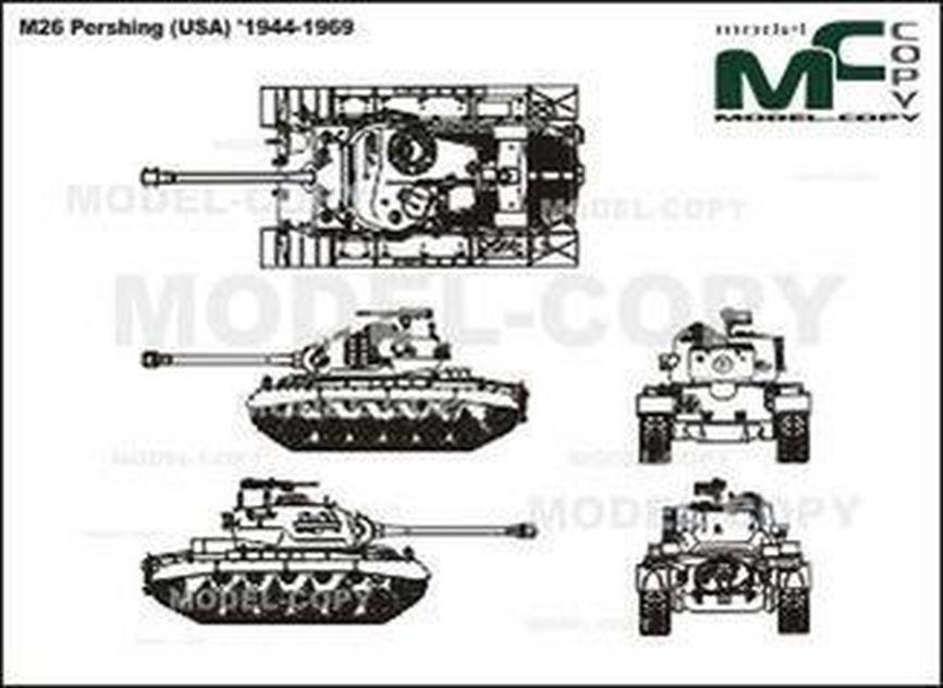 M26 Pershing (USA) '1944-1969 - 2D drawing (blueprints)