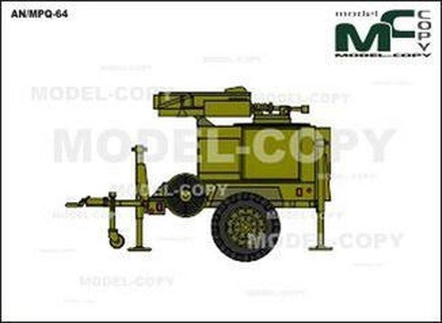 AN/MPQ-64 - 2D tekening