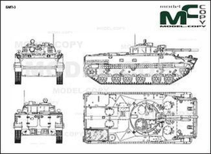 BMP-3 - 2D tekening