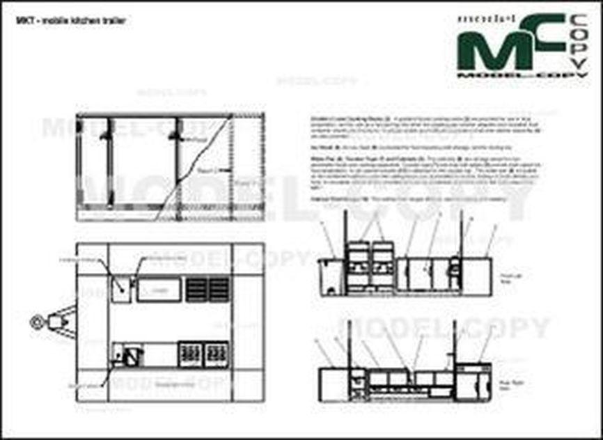 MKT - mobile kitchen trailer - 2D drawing (blueprints)