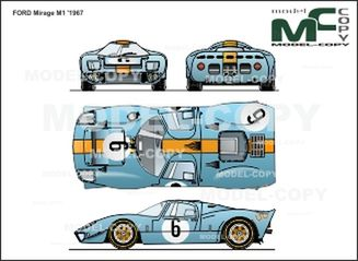 FORD Mirage M1 '1967 - 2D drawing (blueprints)