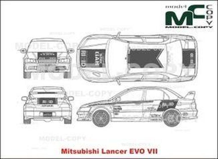 Mitsubishi Lancer Evolution VII - drawing