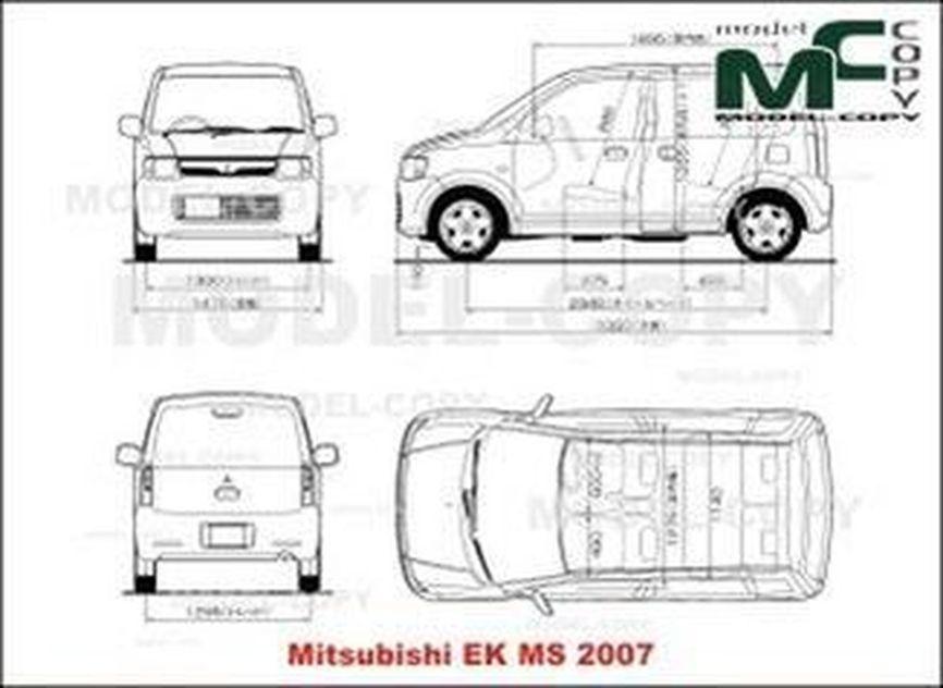 Mitsubishi EK MS (2007) - drawing