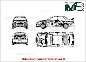 Mitsubishi Lancer Evolution II - drawing