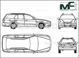 Mitsubishi Galant Сombi - 2D drawing (blueprints)