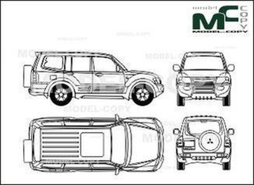 mitsubishi pajero  5-doors  2000  - drawing