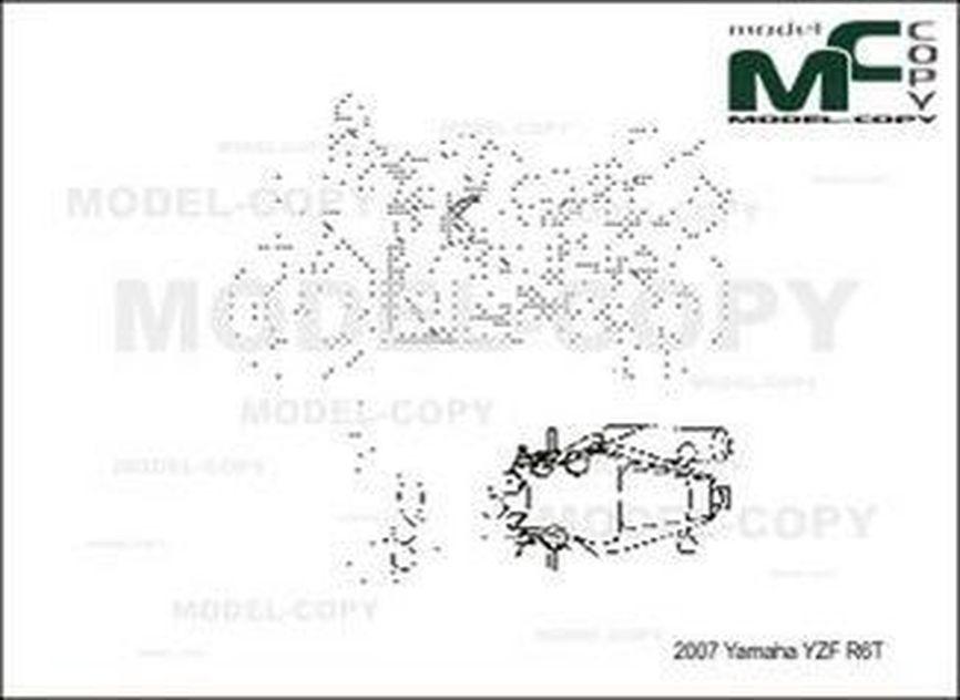 Yamaha YZF R6T  '2007 - drawing