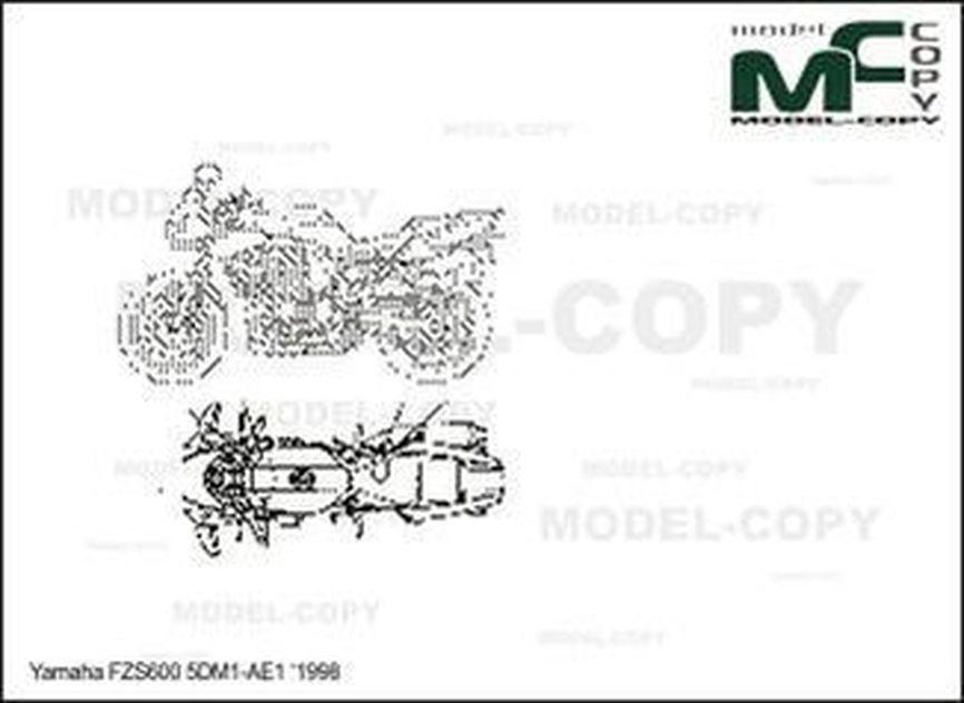 Yamaha FZS600 '1998 - drawing