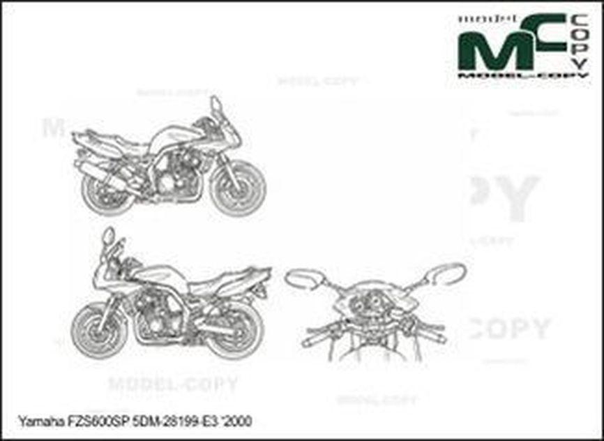 Yamaha FZS600SP '2000 - drawing