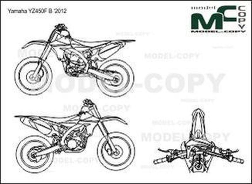 Yamaha YZ450F B '2012 - drawing
