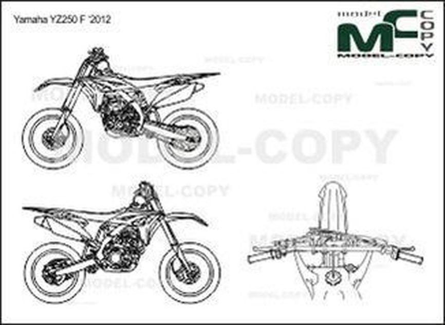 Yamaha YZ250 F '2012 - drawing