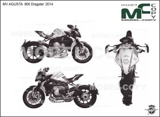 MV AGUSTA 800 Dragster '2014 - drawing