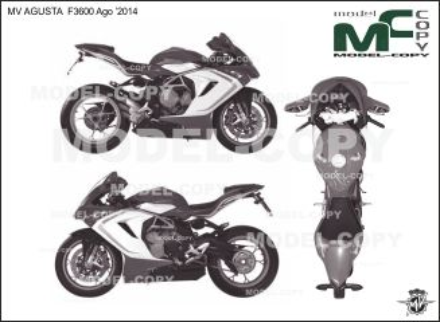 MV AGUSTA F3600 Ago '2014 - 2D繪圖