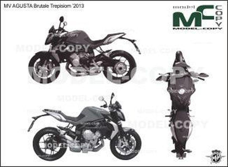 MV AGUSTA Brutale Trepisiom '2013 - drawing