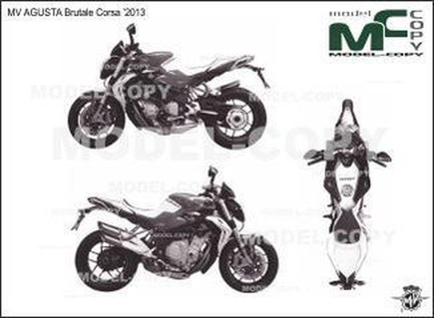 MV AGUSTA Brutale Corsa '2013 - drawing